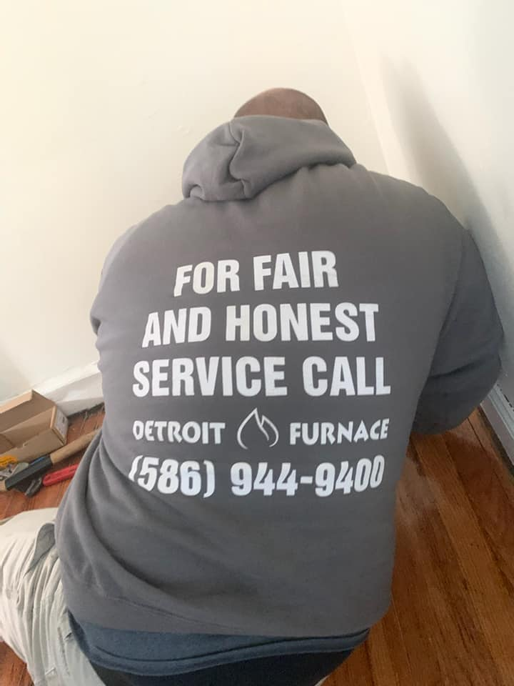 When you need a new Boiler, call Detroit Furnace for fair and honest service — just like the hoodie says!